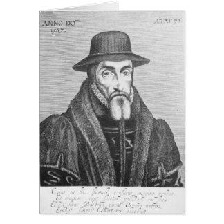 Porträt von John Foxe-Englisch Martyrologist Grußkarte