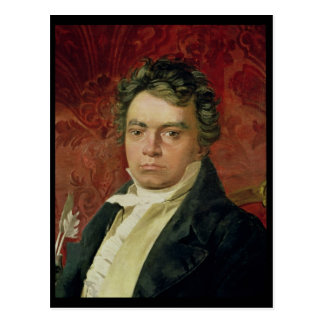 Porträt von Ludwig van Beethoven Postkarte