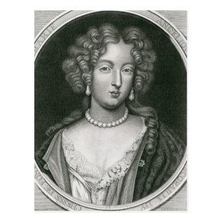 Porträt von Marie Angelique de Scoraille Postkarte