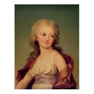 Porträt von Marie-Therese Charlotte von Frankreich Postkarte