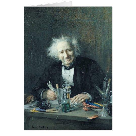 Porträt von Michel-Eugene Chevreul 1888 Grußkarte