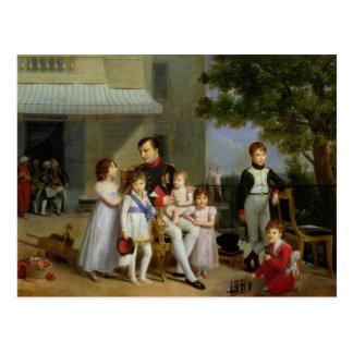 Porträt von Napoleon Bonaparte mit seinen Neffeen Postkarte