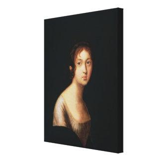 Porträt von Natalia Goncharova, 1820s Galerie Faltleinwand