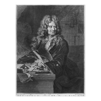 Porträt von Nicolas Boileau Postkarte