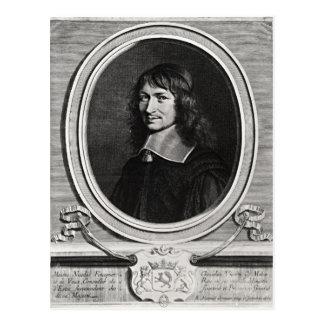 Porträt von Nicolas Fouquet 1662 Postkarte