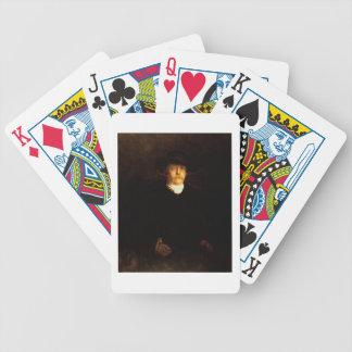 Porträt von Otto von Bismarck (1815-98) (Öl auf PA Pokerkarten