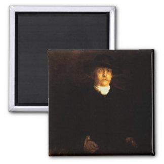 Porträt von Otto von Bismarck (1815-98) (Öl auf PA Quadratischer Magnet