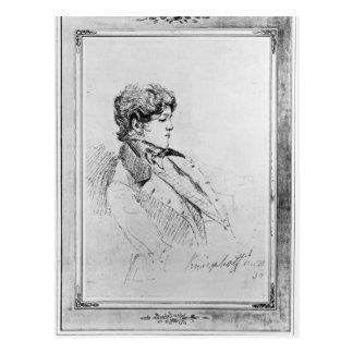 Porträt von Prince Otto Von Bismarck, 1834 Postkarte