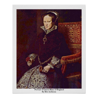 Porträt von Queen Mary von England durch MOR Poster