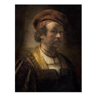 Porträt von Rembrandt, 1650 (Öl auf Leinwand) Postkarte