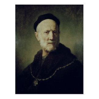 Porträt von Rembrandts Vater Postkarte