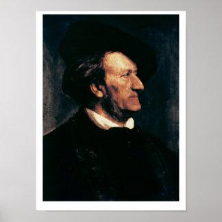 Porträt von Richard Wagner (1813-83) (Öl auf canva Poster