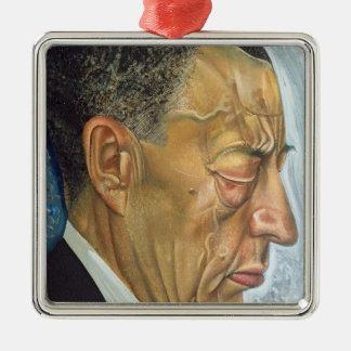 Porträt von Sergey Rakhmaninov 1930 Quadratisches Silberfarbenes Ornament