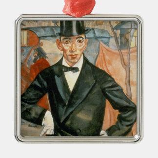 Porträt von Sherling Quadratisches Silberfarbenes Ornament