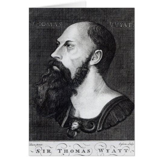 Porträt von Sir Thomas Wyatt Karte