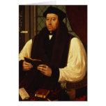 Porträt von Thomas Cranmer 1546 Grußkarte