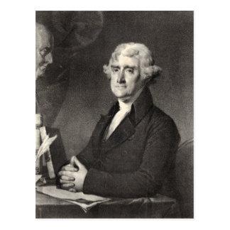 Porträt von Thomas Jefferson Postkarte