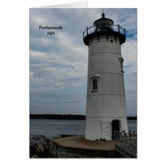 Portsmouth-Licht Karte