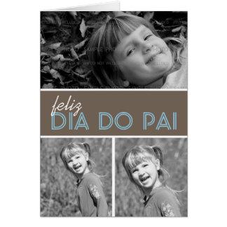 Portugais du modèle | de carte de voeux de photo d