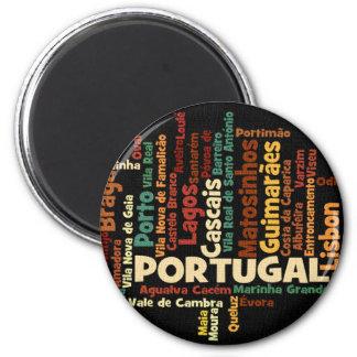 PORTUGAL-Magnet Runder Magnet 5,7 Cm