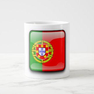 Portugal polierte Flagge Jumbo-Mug