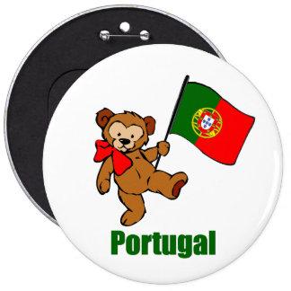 Portugal-Teddybär-Knopf Runder Button 15,3 Cm
