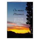 Portugiese: Pesames/Beileid Karte