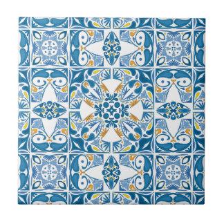 Portugiesisches Fliesen-Muster Kleine Quadratische Fliese
