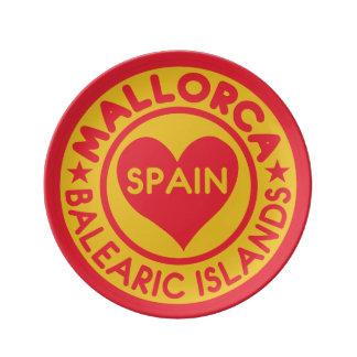 Porzellan-Teller MALLORCA Spanien Porzellanteller