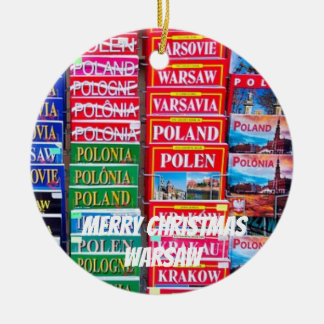 Porzellan-Weihnachtsverzierung Warschaus Keramik Ornament