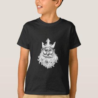 Poseidon, das Trident-Kronen-Holzschnitt trägt T-Shirt