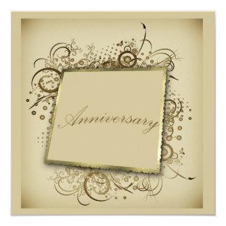 Posh Foto-Hochzeits-Jahrestags-Einladung Quadratische 13,3 Cm Einladungskarte