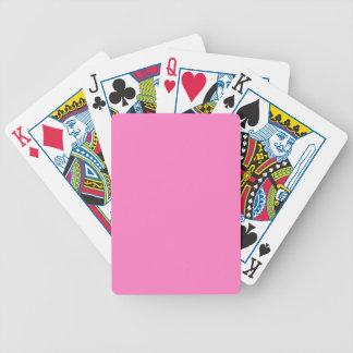 Positiv hübsches Rosa! Farbe Bicycle Spielkarten