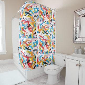 Positive Schwingungen, die Duschvorhang malen