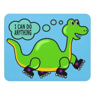 Positives Bild-Dinosaurier-Skaten kann ich alles Türschild