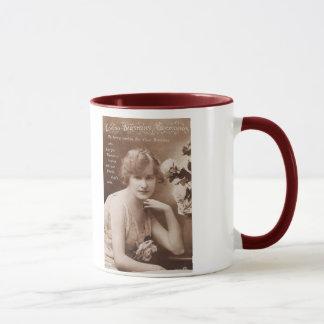 Post Card Lady mug Tasse