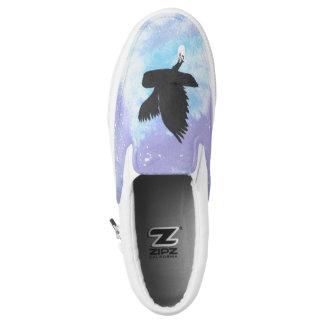 Post-Eulen-Beleg auf Schuhen Slip-On Sneaker