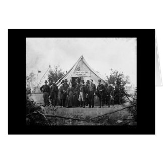 Post-Hauptsitze in Falmouth, VA 1863 Karte