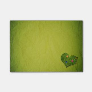 Post-it® Coeur romantique d'herbe - notes de Courrier-it®