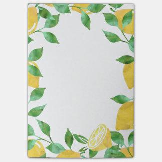 Post-it® Notes collantes de citrons d'aquarelle