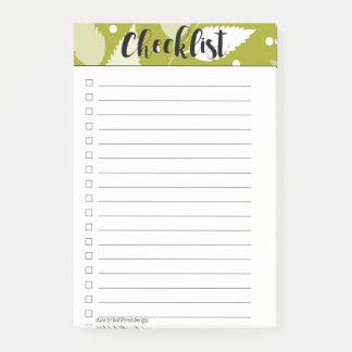 Post-it® Notes de post-it feuillues vertes de liste de