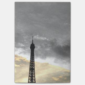 Post IT Umdrehung Eiffel, aber und Geld Post-it Klebezettel