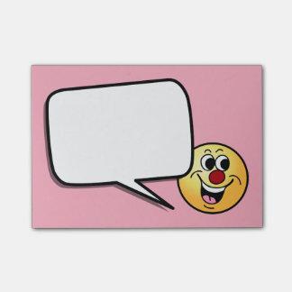 Post-it® Visage souriant de sourire Grumpey