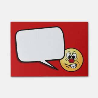 Post-it® Visage souriant frustrant Grumpey