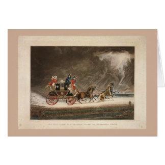 Post-Zug in einem Sturm, 1827. Karte
