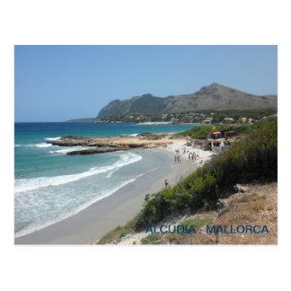 postalischer Strand von Alcudia, Mallorca, Postkarte