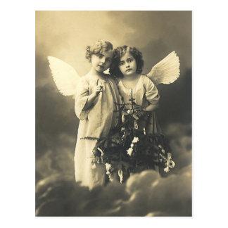 Postcard vintage angels postkarten