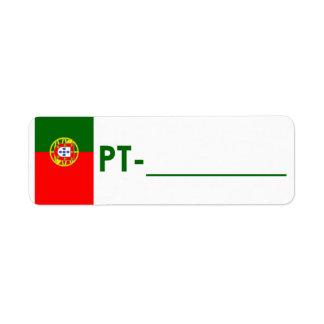 "Postcrossing Identifikations-Aufkleber Portugal ""F Rücksende Aufkleber"