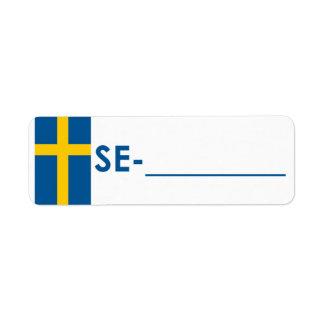 """Postcrossing Identifikations-Aufkleber Schweden """"F Kleiner Adressaufkleber"""