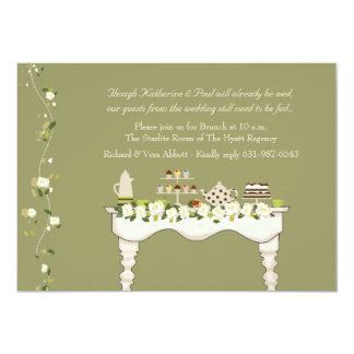 Posten-Hochzeits-Brunch-Einladung (Sie 12,7 X 17,8 Cm Einladungskarte